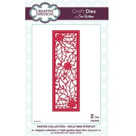 CREATIVE EXPRESSIONS und COUTURE CREATIONS Punching template: Holly Mini Striplet