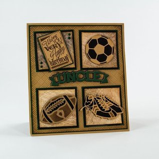 Tonic Stamping and embossing folder: sports shoes