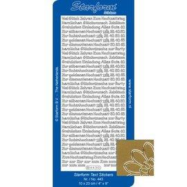 Sticker adesivi combinati, testo tedesco