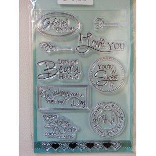 Stempel / Stamp: Transparent Gennemsigtige frimærker, tekst anmodninger