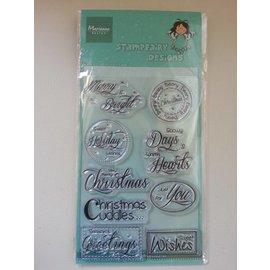 Stempel / Stamp: Transparent Gennemsigtige frimærker, tekst: Jul ønsker