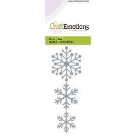 Crealies und CraftEmotions Stan Template: Snow crystals 5 x 10 cm