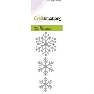 Crealies und CraftEmotions Stan Template: Sneeuwkristallen 5 x 10 cm