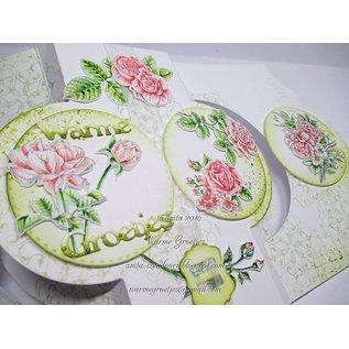 Wild Rose Studio`s A6 Gennemsigtige frimærker, roser
