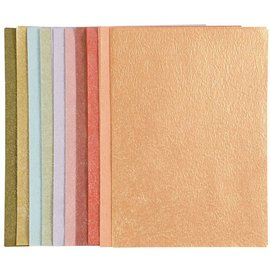 DESIGNER BLÖCKE / DESIGNER PAPER Perlmuttpapier, A4 21x30 cm, perlmuttfarben, 50 Blatt!