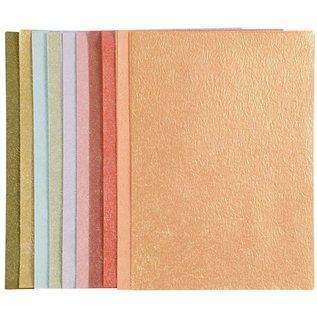 DESIGNER BLÖCKE / DESIGNER PAPER Pearl papir, A4 21x30 cm, boblende, 50 ark!