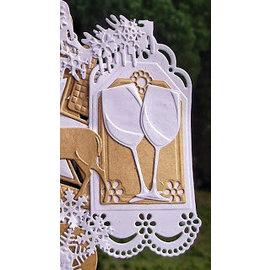 Marianne Design Stansning og prægning skabelon: dekorative etiketter