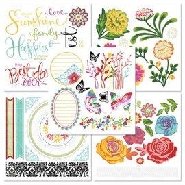 Embellishments / Verzierungen Frotter sur le livre avec 5 feuilles