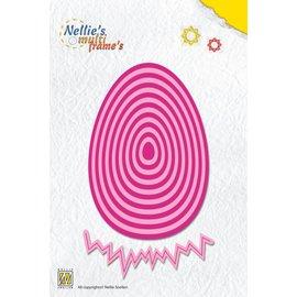 Nellie Snellen modèle de poinçonnage: oeuf de Pâques