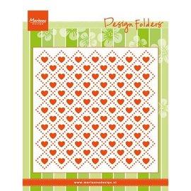 Marianne Design Embossing folders: Sweethearts, heart