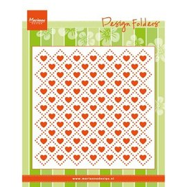 Marianne Design Gaufrage dossiers: Sweethearts, coeur