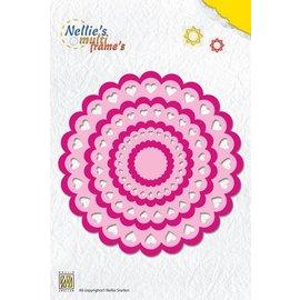 Nellie Snellen modelo de perfuração: Coração Rosette