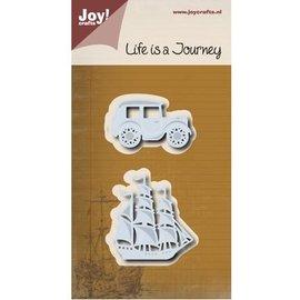 Joy!Crafts / Hobby Solutions Dies Cutting meurt: Journey - zeilboot & oldtimer