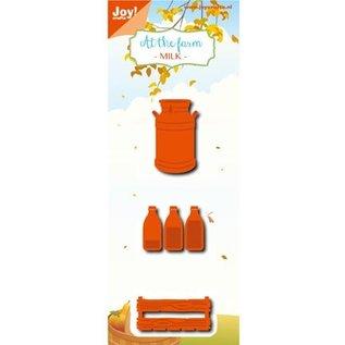 Joy!Crafts / Jeanine´s Art, Hobby Solutions Dies /  Stanzschablonen: Milchflasche, Kiste, Milchkanne