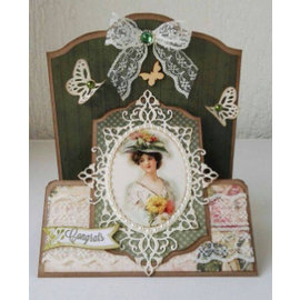 Joy!Crafts / Jeanine´s Art, Hobby Solutions Dies /  Ponsen sjabloon: Oval frames en 2 hoek