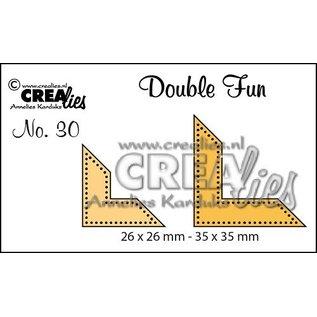 Crealies und CraftEmotions Stanzschablonen: Ecke mit Punkte
