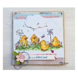 Marianne Design Stamp transparente: patinhos bonitos