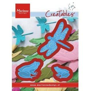 Marianne Design Stansning skabelon: frøer og guldsmede