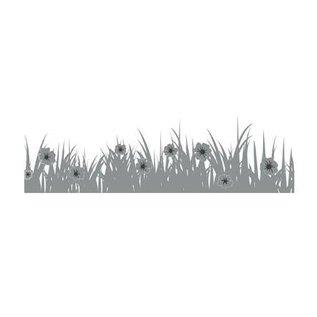 Joy!Crafts / Jeanine´s Art, Hobby Solutions Dies /  Stanzschablone: Bordüre Gras mit Blümchen