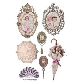Embellishments / Verzierungen vintage designer Klistremerker: Lady Loves