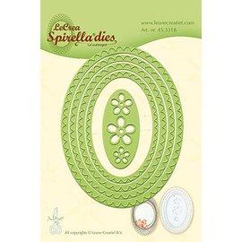 Leane Creatief - Lea'bilities Skæring dør: Spirella ovaler. kun et par stykker på lager