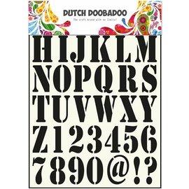 Dutch DooBaDoo letras Molde universal e números