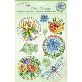 Stempel / Stamp: Transparent Transparent stamps: flowers and dragonfly