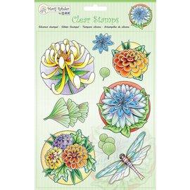 Stempel / Stamp: Transparent Transparent Stempel: Blumen und Libelle