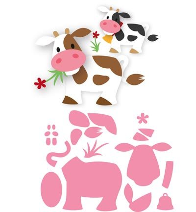 marianne design cutting and embossing template eline s cow hobby