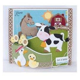 Marianne Design Ponsen sjabloon: Eline's koe
