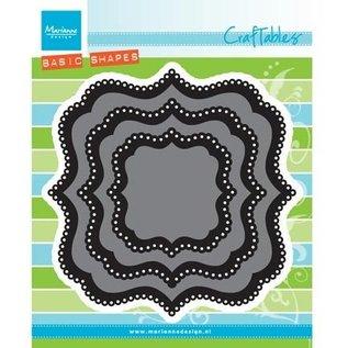 Marianne Design Stansning skabelon: Basic, Classic firkantet