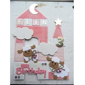 Marianne Design Puncionar e modelo embossing Collectables - ovelha Eline