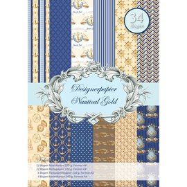 REDDY Designerpapierset, or nautique