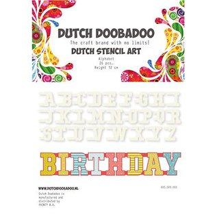 Dutch DooBaDoo Stencil Art Alfabet AZ