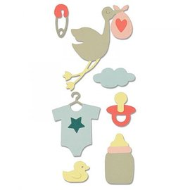 Sizzix Thinits Die Set, Thema: Baby