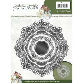 Precious Marieke Stanzschablone: Blumen Zierrahmen