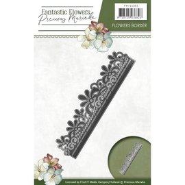 Precious Marieke pochoir Stamping: fleur frontière