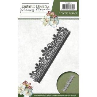 Precious Marieke Stanzschablone: Blumen Bordüre
