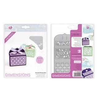 Tonic Ponsen en embossing sjabloon: Een filigraan 3D doos