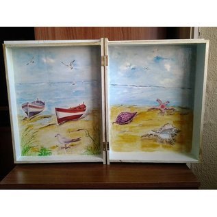 Objekten zum Dekorieren / objects for decorating Caixa de madeira em forma de livro em 4 tamanhos diferentes