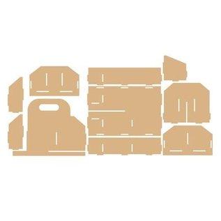 Holz, MDF, Pappe, Objekten zum Dekorieren Aufbewahrung Box, Werkzeug Box