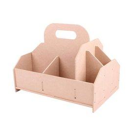 Holz, MDF, Pappe, Objekten zum Dekorieren scatola di immagazzinaggio, cassetta degli attrezzi