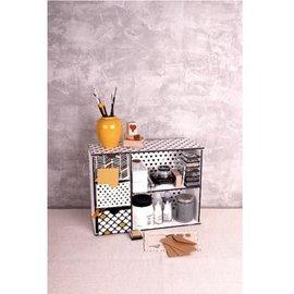 Holz, MDF, Pappe, Objekten zum Dekorieren scatola di immagazzinaggio con scomparti e cassetti modello