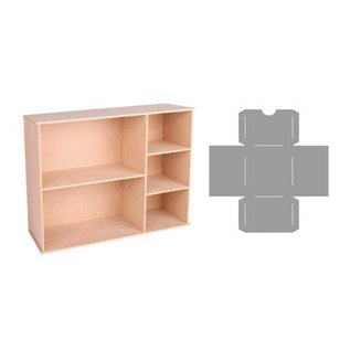Holz, MDF, Pappe, Objekten zum Dekorieren Aufbewahrung Box mit Fächer und Schublade Schablone