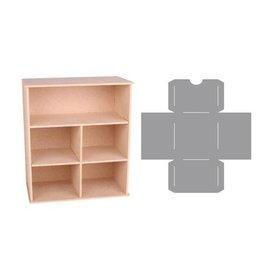 Holz, MDF, Pappe, Objekten zum Dekorieren Boîte de rangement avec compartiments et tiroirs modèle