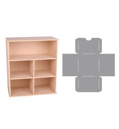 Holz mdf pappe objekten zum dekorieren aufbewahrung box mit f cher und schublade schablone - Dekorieren mit holz ...