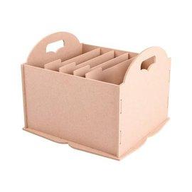 Holz, MDF, Pappe, Objekten zum Dekorieren Storage doos met compartimenten, bijvoorbeeld voor papier