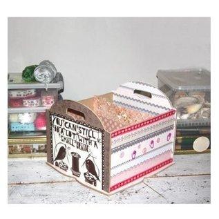 Holz, MDF, Pappe, Objekten zum Dekorieren Aufbewahrung Box mit Fächer, z.B. für Papier