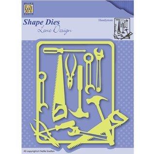 Nellie Snellen Stanzschablone: Werkzeug mit Rahmen