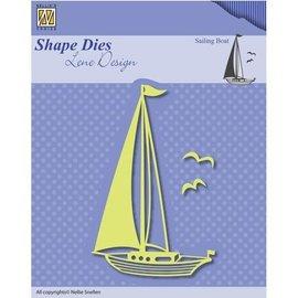 Nellie Snellen template perfuração: Sailboat